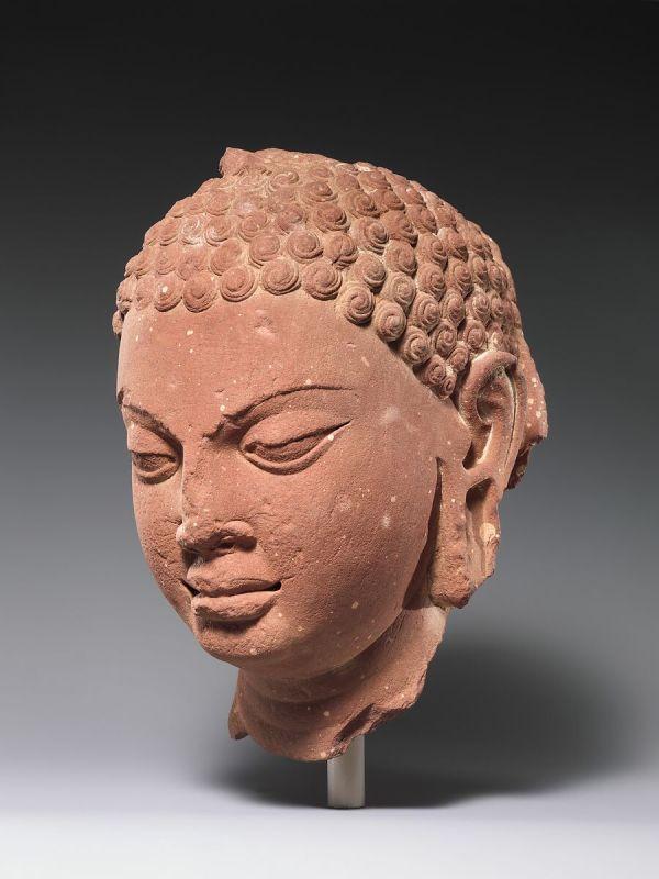 Head Of Buddha India Uttar Pradesh Mathura Late
