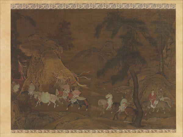 Unidentified Artist Emperor Xuanzong' Flight Shu