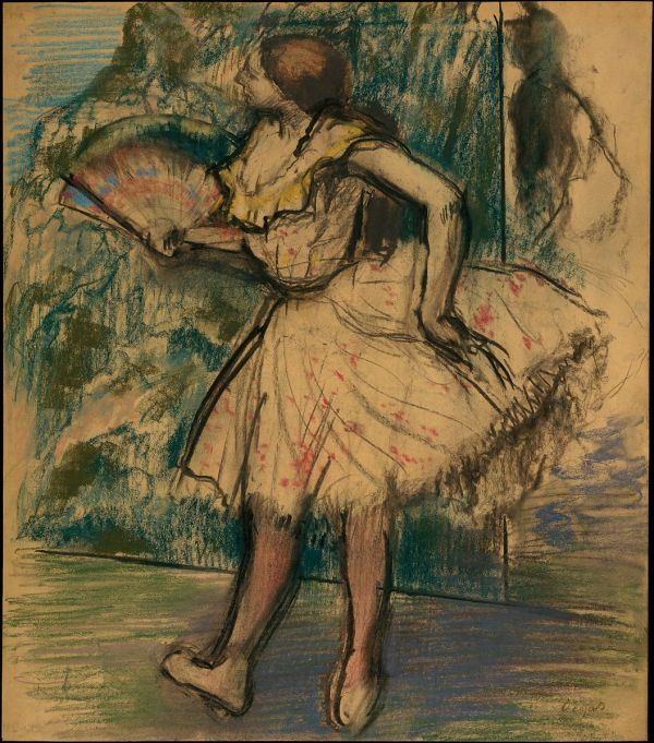Edgar Degas Dancer With Fan Met