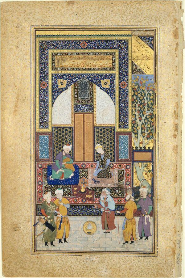 "Painted Shaikh Zada ""interior Reception"" Folio 36r"