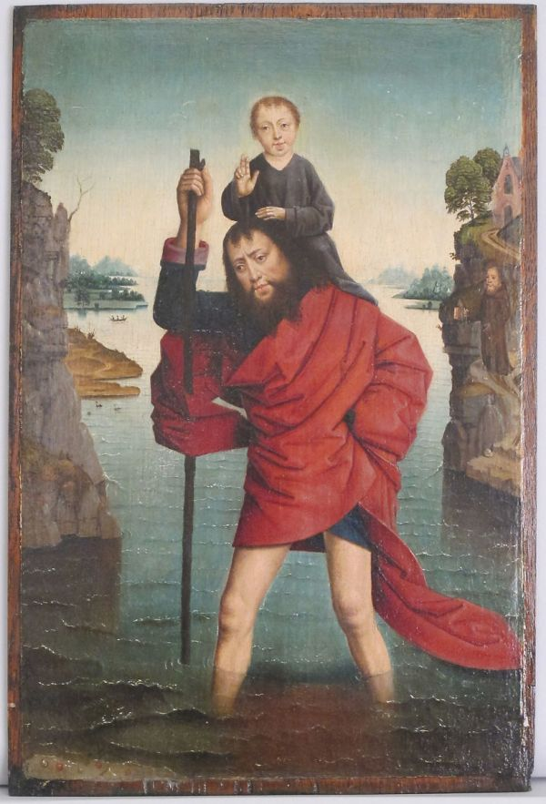 Follower Of Dieric Bouts Saint Christopher And