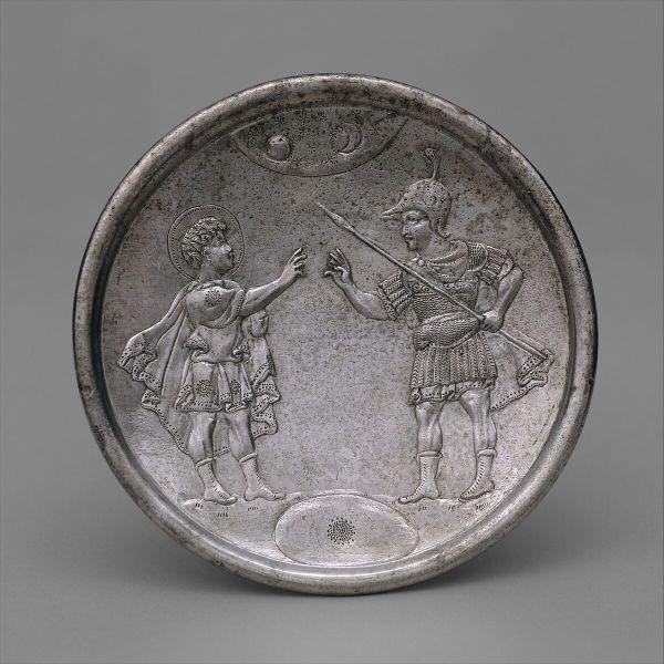 Plate With David' Confrontation Eliab Byzantine Met
