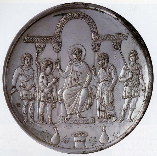 Plate With Presentation Of David Saul Byzantine