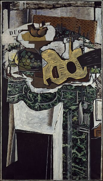 Georges Braque  Guitar and Still Life on a Mantelpiece