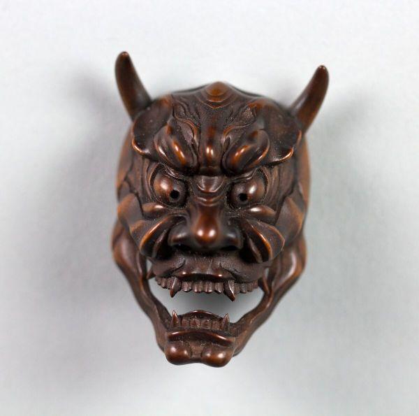 Netsuke Of Noh Mask; Hannya Japan Met