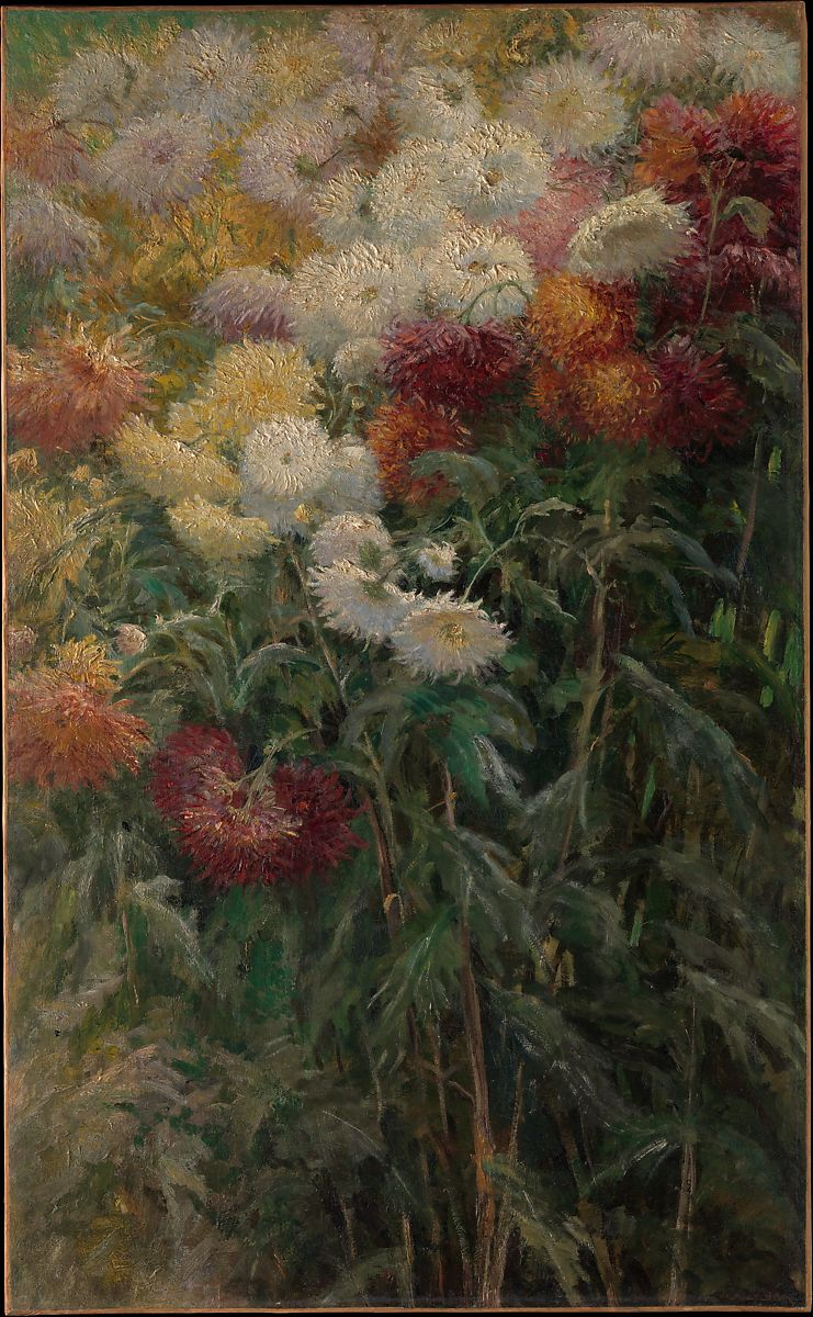 Gustave Caillebotte  Chrysanthemums in the Garden at