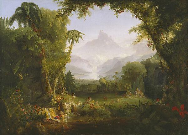 Thomas Cole The Garden Of Eden American The Met