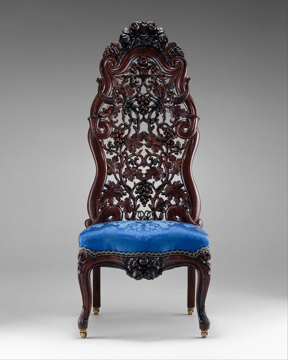 Blue Slipper Chair John H Belter Slipper Chair American The Met