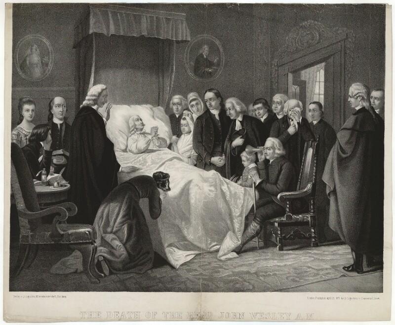NPG D37686 John Wesley The Death Of The Revrd John Wesley AM Large Image National