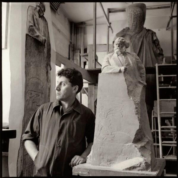 Npg X134757; Lev Efimovich Kerbel With Works Including Monument Karl Marx - Large