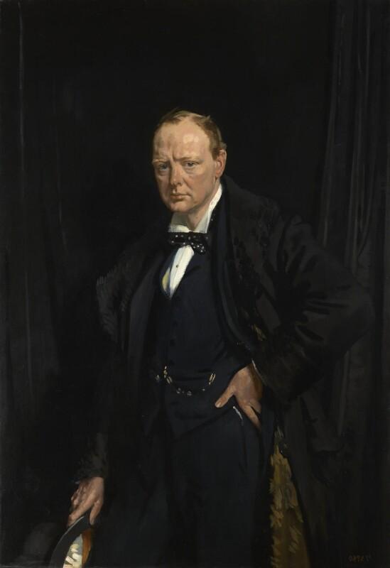 Winston Churchill Portrait Painting : winston, churchill, portrait, painting, L250;, Winston, Churchill, Portrait, National, Gallery