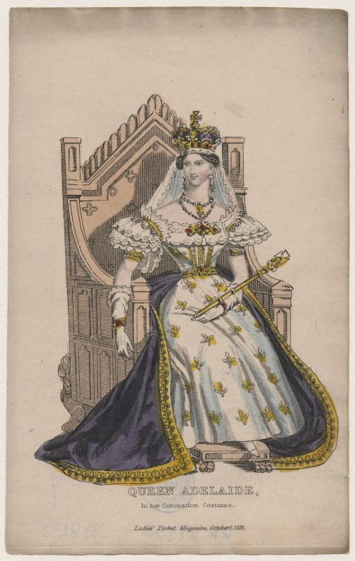 Queen Adelaide : queen, adelaide, D8133;, Queen, Adelaide, (Princess, Saxe-Meiningen), Portrait, National, Gallery
