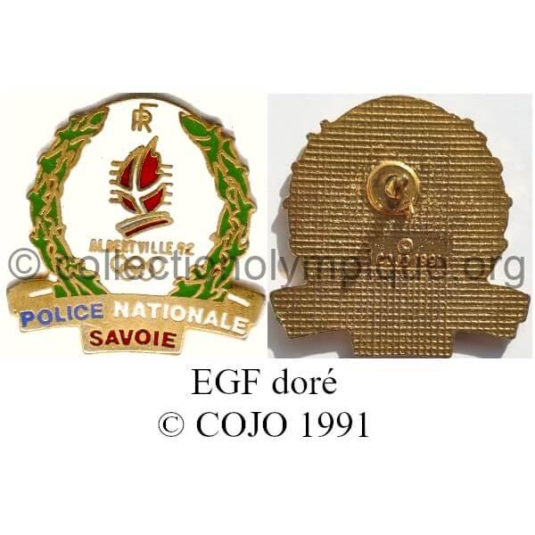 107 04 forces de sécurité police dorée émail grand feu © COJO 1991