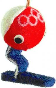 1968 Grenoble olympic mascot Shuss tissue