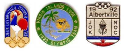 1992 Albertville NOC pins