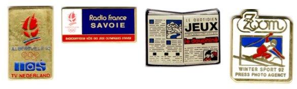 Albertville 1992 pin's medias