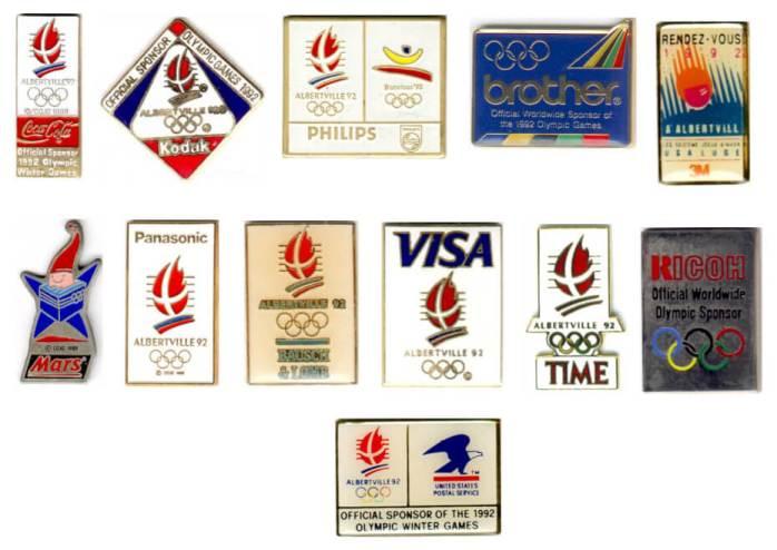 1992 Albertville 1992 TOP Club pins