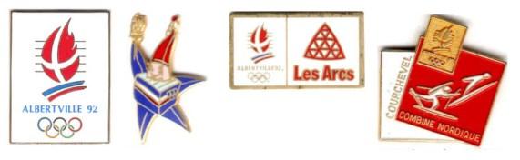 Albertville 1992 pin's officiels