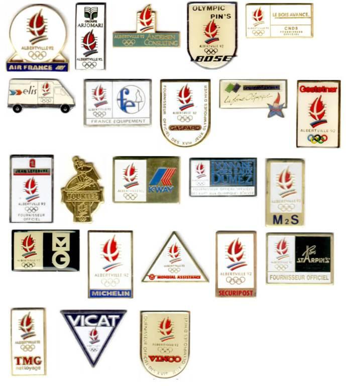 Albertville 1992 pin's sponsors nationaux