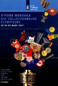 1997 affiche 3ème foire internationale des collectionneurs olympiques de Lausanne, (Suisse)