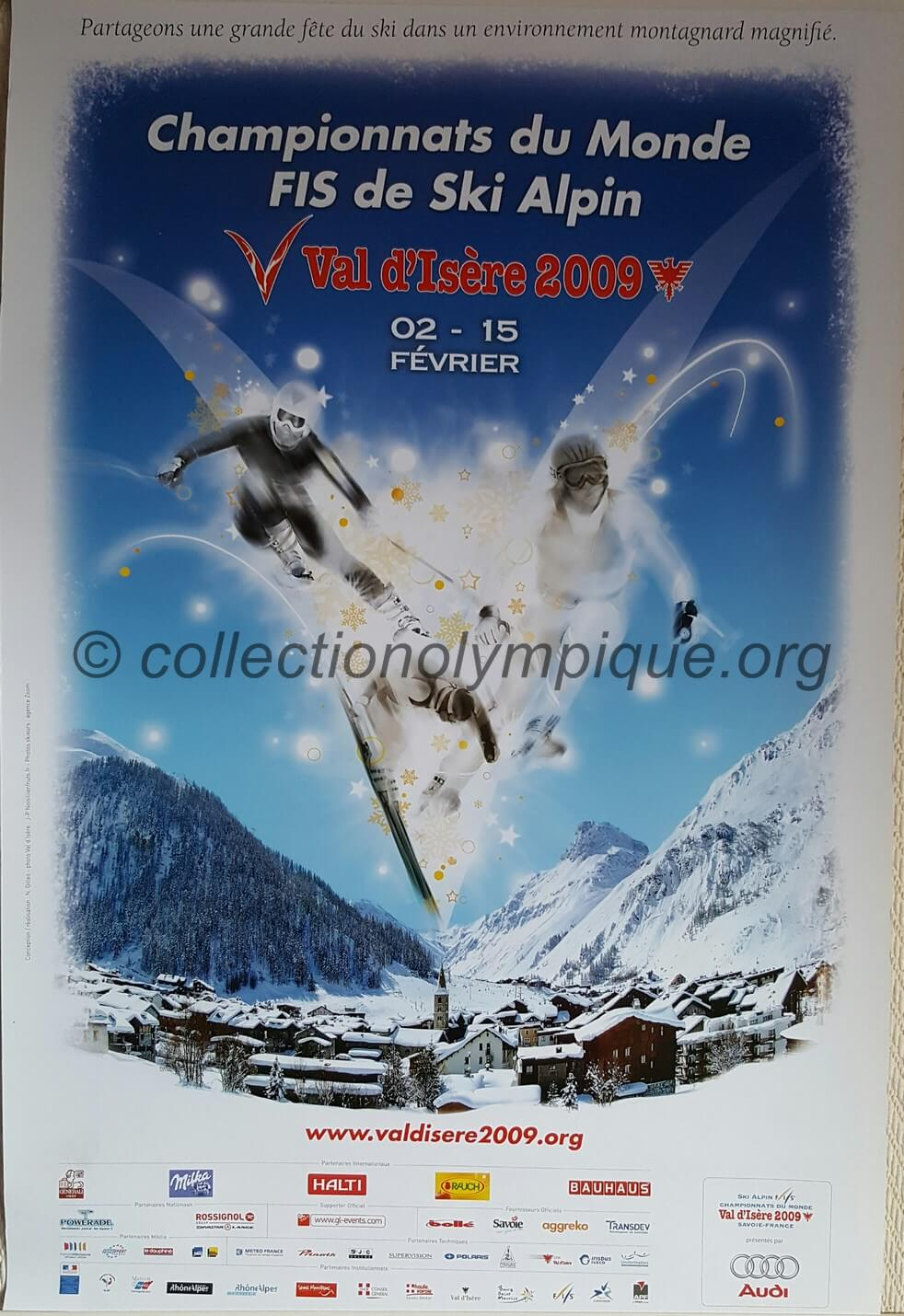 2009 Val d'Isère official poster world championship of alpine skiing 60 x 40 cm