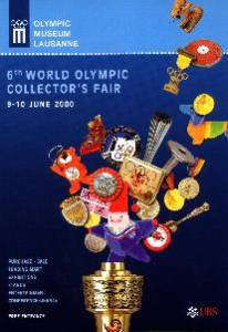 2000 Lausanne world olympic collector's fair poster