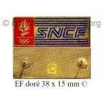 13 01 Club Coubertin pin's SNCF émail à froid doré 2 attaches 38 x 15 mm signé ©