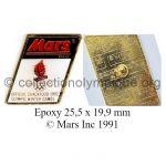 43 03 Club Top pin's Mars époxy 25,5 x 19,9 mm signé © Mars Inc 1991