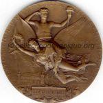 1900 Paris médaille olympique de participant recto - bronze - participants exposition universelle - 64 mm - designer Jules-Clément CHAPLAIN