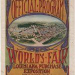 1904 Saint-Louis programme olympique journalier, 13/08/1904 22,8 x 15,5 cm