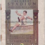 1908 Londres programme olympique journalier, athlétisme, cyclisme, natation, gymnastique, 15/07/1908 18,3 x 12,4 cm