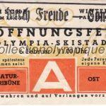 1936 Garmisch-Partenkirchen billet olympique cérémonie d'ouverture 06/02/1936, 11,7 x 5,9 cm