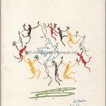 1984 Los Angeles programme olympique de la cérémonie d'ouverture, 28/07/1984 27,4 x 21,4 cm
