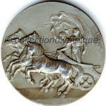 1912 Stockholm médaille olympique de participant recto - Etain - athlètes - 51 mm - 6 000 ex. - designers Bertram MACKENNAL - Erik LINDBERG