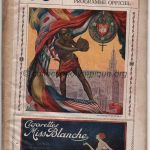 1920 Anvers programme olympique journalier, 16/08/1920 21,3 x 13,8 cm