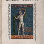 1932 Los Angeles programme olympique cérémonie d'ouverture, 30/07/1932 26,8 x 19,3 cm
