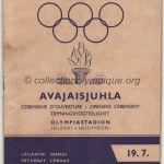 1952 Helsinki programme olympique cérémonie d'ouverture, 19/07/1952 19,3 x 13,5 cm