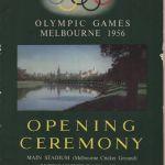 1956 Melbourne programme olympique cérémonie d'ouverture, 22/11/1956 27,8 x 21,2 cm