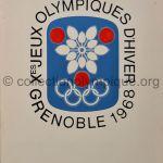1968 Grenoble programme olympique de la cérémonie d'ouverture, pochette 23,9 x 16,9 cm