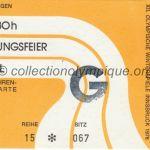 1976 Innsbruck billet olympique cérémonie d'ouverture 04/02/1976, 13 x 8 cm