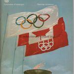 1976 Montréal programme olympique de la cérémonie d'ouverture, 17/07/1976 26,7 x 21 cm