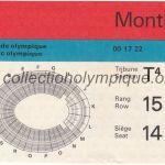 1976 Montréal billet olympique cérémonie d'ouverture, 17/07/1976, 15,3 x 7 cm