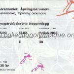 1994 Lillehammer billet olympique cérémonie d'ouverture 12/02/1994, 16,4 x 7,6 cm