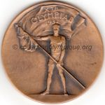 1932 Los Angeles médaille olympique de participant recto, bronze - athlètes et officiels - 69 mm - 4000 ex. - designer Julio KILENYI