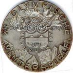 1976 Innsbruck médaille olympique de participant recto, bronze argenté - athlètes - 50 mm - designer W. PICHL