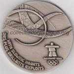 2010 Vancouver médaille olympique de participant recto, athlètes - 60 mm