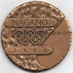 1998 Nagano médaille de participant, verso