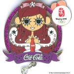 2008 Beijing sponsor pin, Coca-Cola pin, Zodiac sign snake