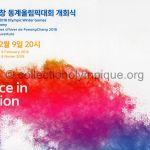 2018 PyeongChang programme olympique de la cérémonie d'ouverture, 09/02/2018 27 x 18,8 cm