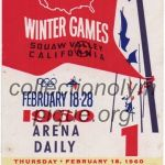 1960 Squaw Valley olympic ticket opening ceremony recto